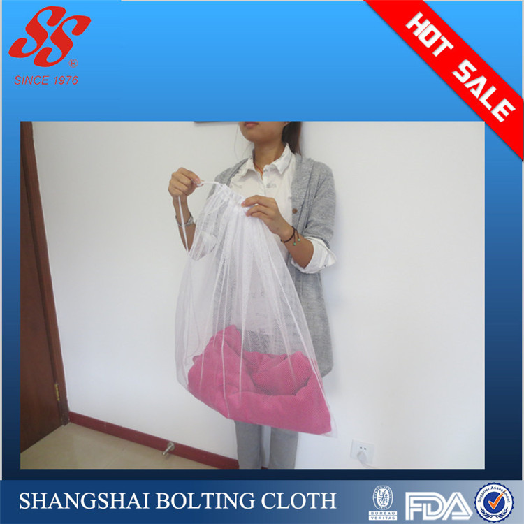 trade assurance 2016 strong mesh laundry bag with drawsting