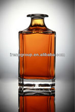 square whisky bottles 1000 ml glass bottle top quality