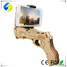 New Design Bluetooth shooting game 3D War Games Wood toy AR gun