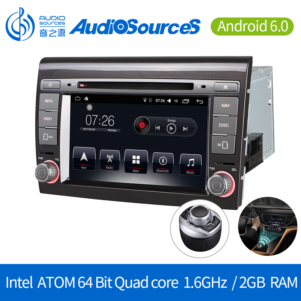 7 inch 2G RAM 32G ROM Octa Core Android 6.0 4G-LTE double din car dvd stereo for Fiat Bravo/Punto with gps navigation
