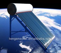 Integrated high pressured solar water heater with heat pipe