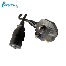 Professional Wholesale C13 connector type uk standard ac power cable cord with Copper conductor PVC jacket