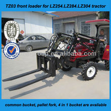 LZ304 mini tractor with 4 in 1 bucket front end loader and backhoe, tractor attachments for Australia