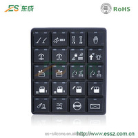 Custom Excavator CAN Silicone Rubber Keypad