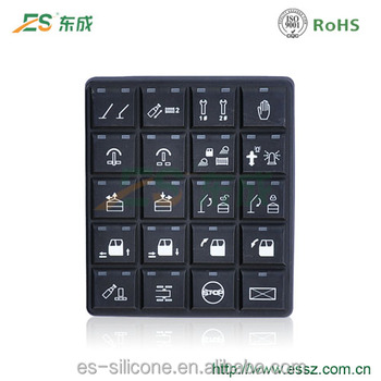 Custom Excavator CAN Silicone Rubber Keypad Laser Carving Control Keyboard