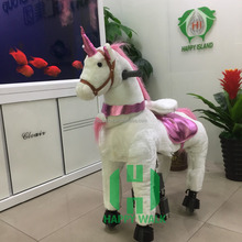 unicorn toy animal scooters horse walker stuffed animal ride mechanical horse for mall ride on horse on wheels hot sale