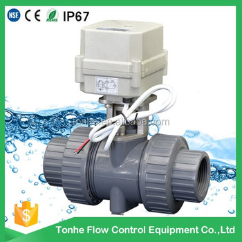 "2016 OEM ODM CE RoSH plastic PVC electric actuator ball valve 3/4"" wholesale"