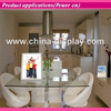White color acrylic frame countertop led lighted Restaurant Smart Table Android Tablet