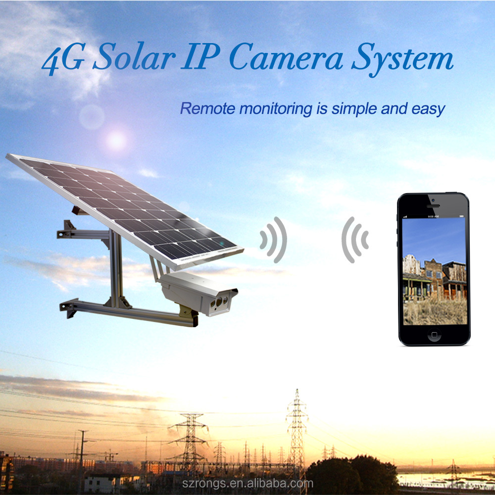 1.0MP outdoor Solar 4G wireless HD 720p WIFI IP bullet surveillance camera