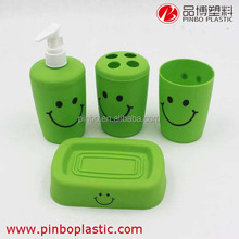 bathroom accessory,smile face bathroom set product collection, Plastic Bathroom Accessory Set