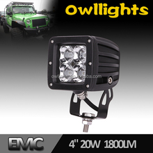 Alibaba express motorcycle 20w led light bar led work light , car accessory 3'' 20w led driving light 4x4 4WD