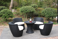 5 PCS Rattan Outdoor Garden Set/Circle Outdoor Furniture Garden Set