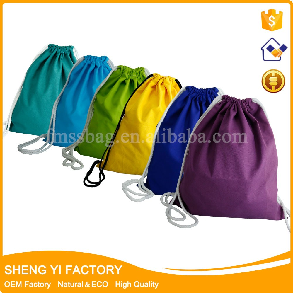 wholesale Customized Cotton Canvas Drawstring Backpack Travel bag, The bag maker