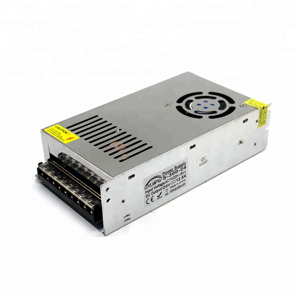 300W 12.5A 24 V Adjustable <strong>Power</strong> <strong>Supply</strong> DC24V SMPS Transformer 220v 110v AC to fonte 24V For Led Strip light CNC CCTV 3D Printer