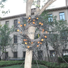 Halloween Hanging Wreath with artificial fruit