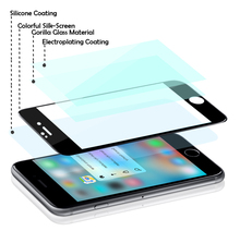5.5 inch Gorilla 3D Curved Full Cover tempered glass screen protector for iphone 6 Plus /6s plus