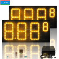 CE&Rohs 12inch 4 digits 8.889 gas station led price sign