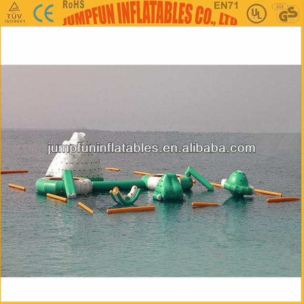 Giant inflatable water park for lake,CE,EN71,EN14960 inflatable aqua sports play park on sea