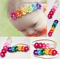 Hot Sale Candy Color Six Flower Baby Headband Girl's Headwear children Hair Accessories