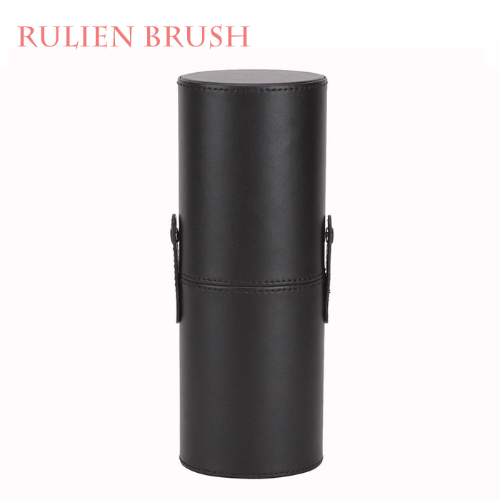 Private Label 1 pc Leather Makeup Brush Storage Holder Cup Case Travel