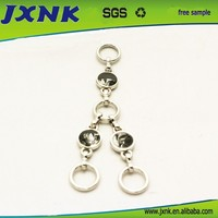 round shape wholesale fashion jewelry ring and chain metal bag accessories