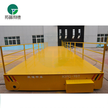 10T metal cargo transport sliding wire transfer vehicle on rails for sale