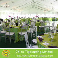 Waterproof and fire retardant clear span wedding tents
