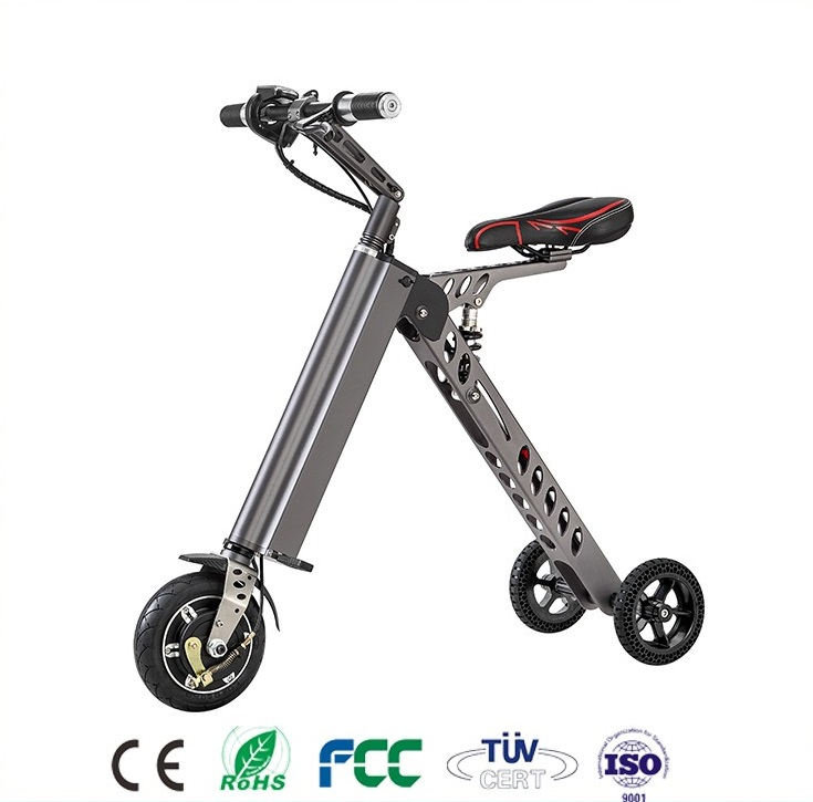 2017 ES-18 folding electric bike for adult 3 wheels with <strong>CE</strong> from China E-Bike Scooter with seat