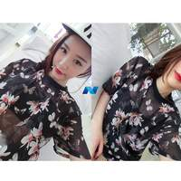 Hot Women Vintage Style Crew Neck Short Sleeve Floral Loose Casual Sports Tops Blouse