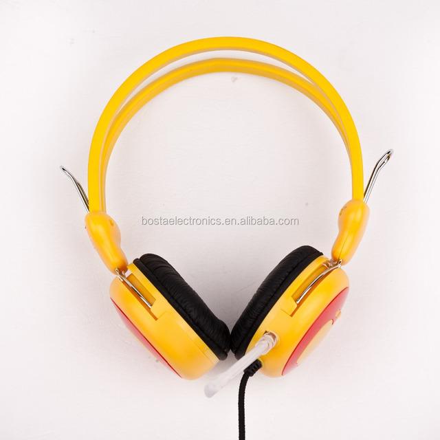2017 popular 3.5mm headphones super bass dynamic headphone stereo orange headphone H058