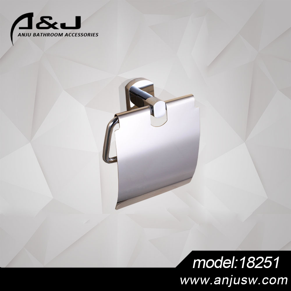 Factory Wall Mounted Brass Bathroom Metal Plated Chrome Toilet Paper Holder Bathroom Accessories