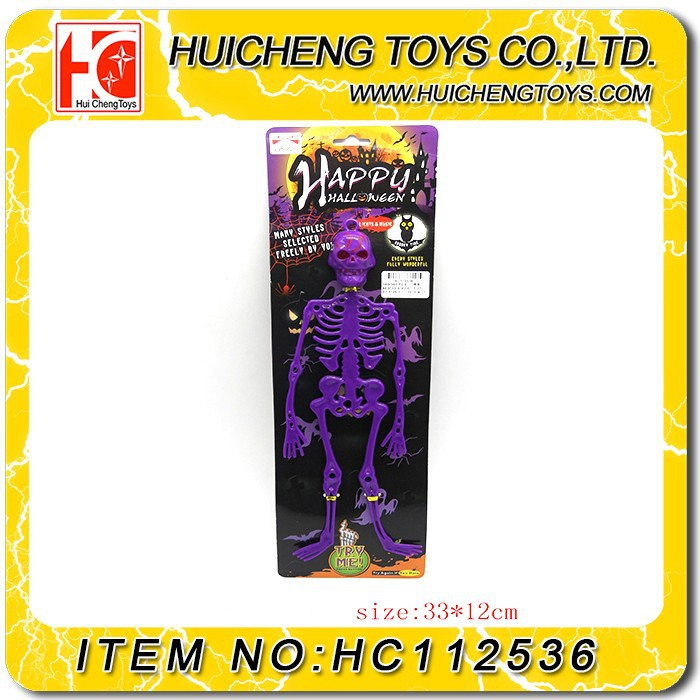2015 new product EC-friendly material Halloween Toy plastic ABS flashing and sound Skeleton have EN71 and ASTM