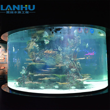 Modern Large Customized Acrylic Cylindrical Fish Tank Aquarium