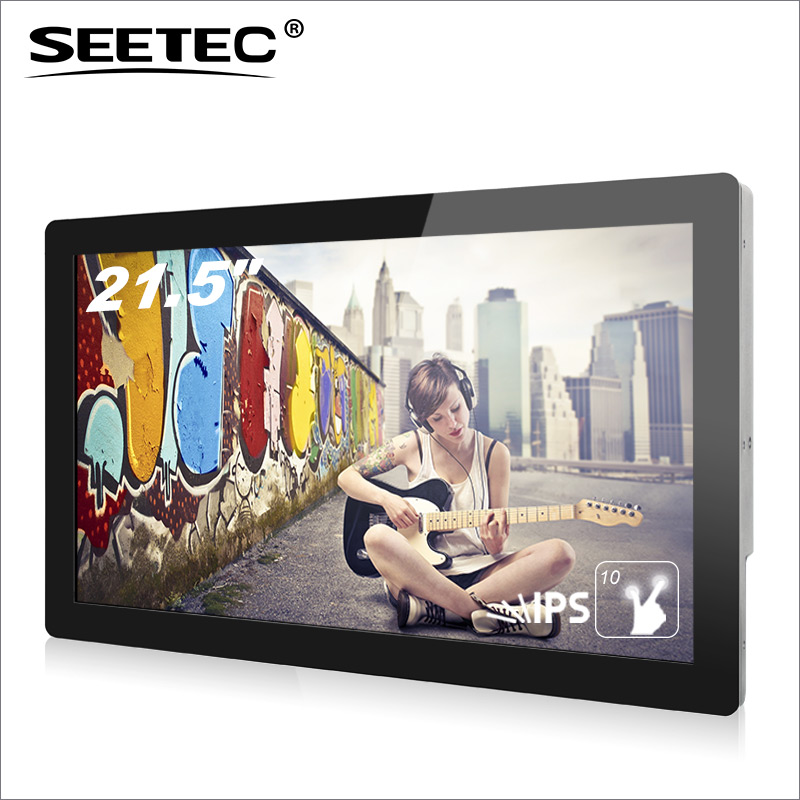 "SEETEC 22"" touch screen outdoor led tv Advertising player lcd stand display"