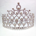 Fashion Pageant tiara Rhinestone alloy Crown princess tiara