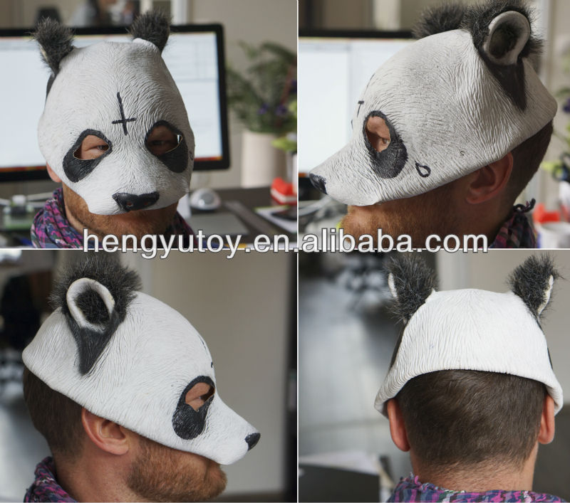 New Panda Rubber Mask Party Head Costume F/S From Japan