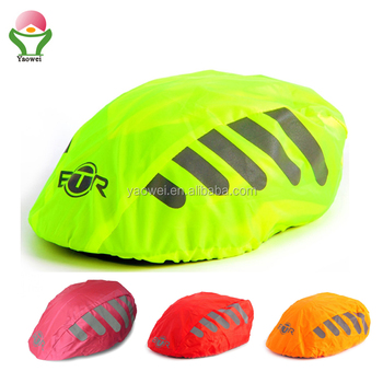 newest fashion Promotional green fabric reflective Bicycle Helmet Cover/Bike Helmet Coat