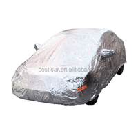 Auto Exterior Cover Universal Fit Sun UV Protection Night Reflectable Soft Lining Car Cover