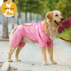 Waterproof three colors pet raincoat for large dog