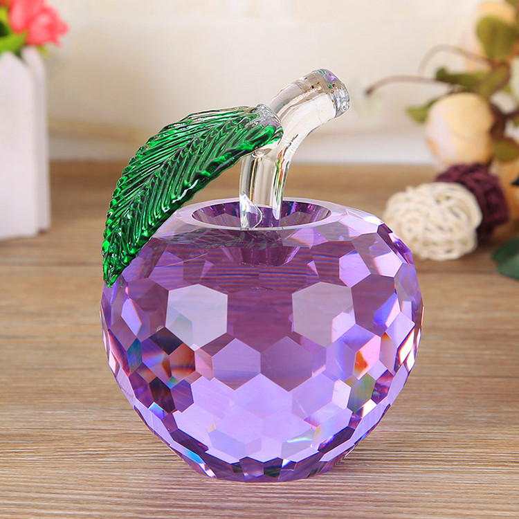 Decorative crystal glass apple giftware