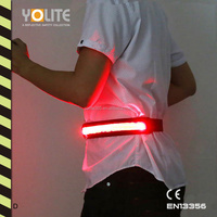 LED luminous belt,LED light belt,LED reflective waist belt with CE EN13356