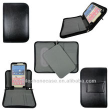 2013 new arrival stand PU leather case with zipper, portfolio for Samsung Note 8.0