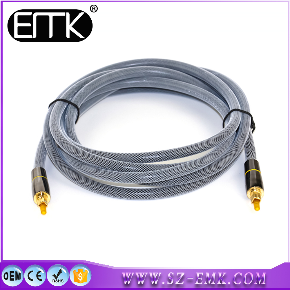 Pure TOS Link TOSLink Optical Digital Audio Cable HQ 8mm Lead 3m