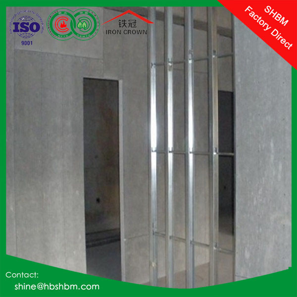 Fireproofing Waterproof Materials Reinforced Fiber Cement Board , interior partition wall board