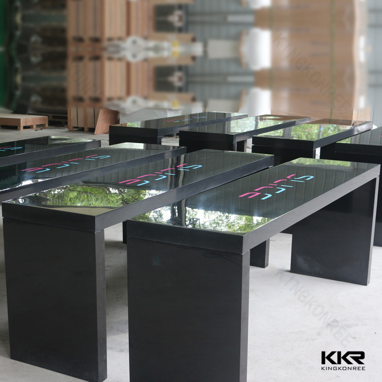acrylic table centerpiece solid surface table tops wedding. Black Bedroom Furniture Sets. Home Design Ideas