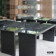 Acrylic table centerpiece solid surface table tops wedding decoration