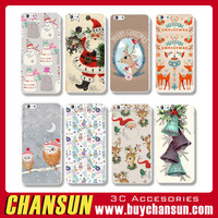 Festive Cute Christmas Gift Phone Back Hard Cover Case For iPhone 5S 5C 6 6 Plus
