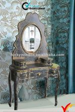 European bedroom wooden stores dresser with mirror