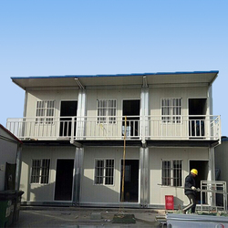 Prefab modular prefabricated glass container house in Malaysia 2- story