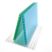 Transparent colored light diffusion plastic polycarbonate twin wall hollow sheets building materials